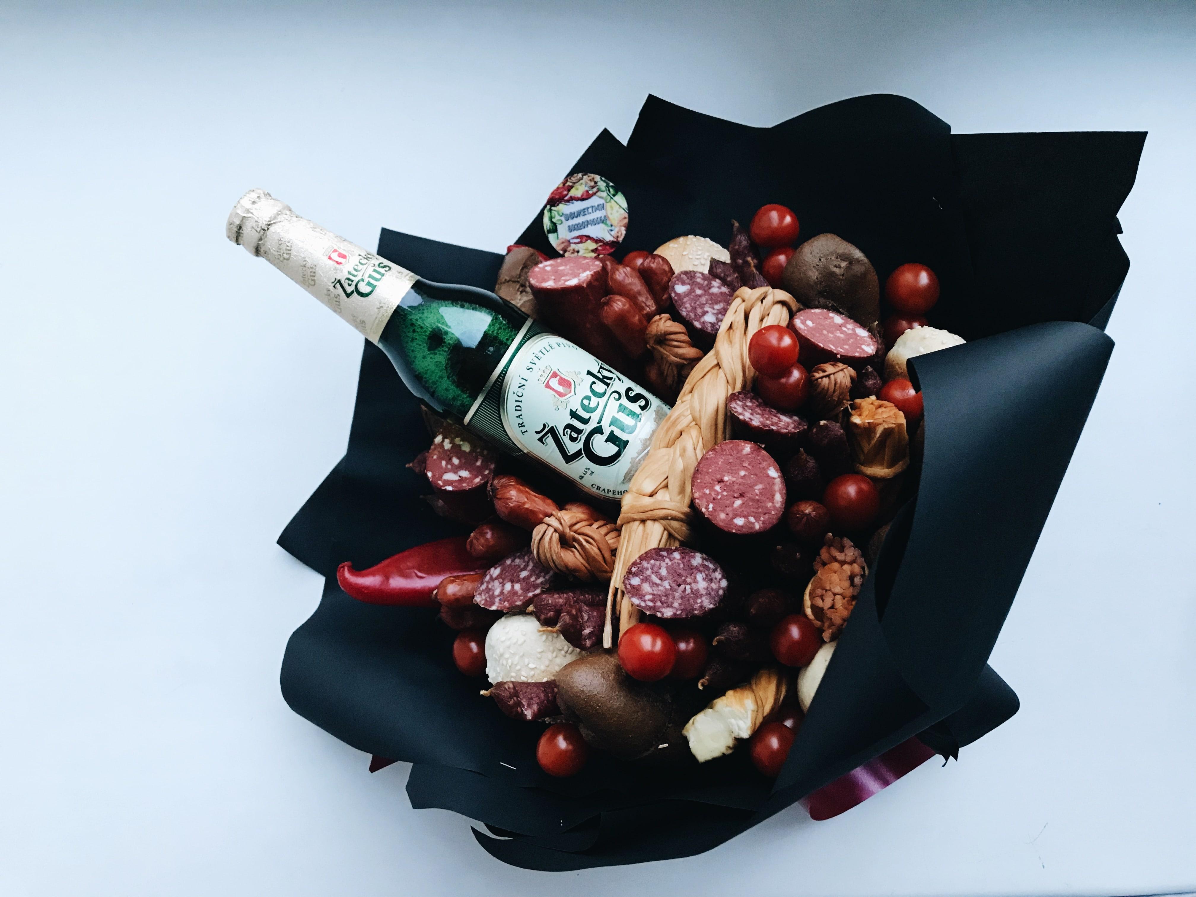 Пивные букеты для мужчин, цветов